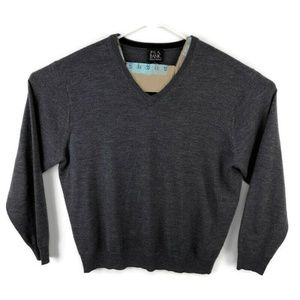 Jos A Bank V Neck Sweater 100% Italian Wool